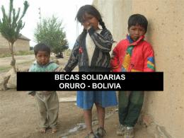 Becas Oruro - Federación Niños del Mundo