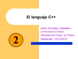 C++ - Dia 2 - Universidad de Oviedo