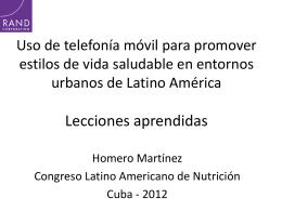 Uso de telefonía móvil para promover estilos de vida saludable en