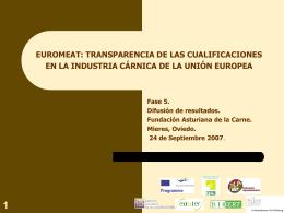 Fase 5 Euromeat Jornada Difusión