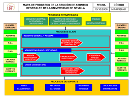 Process Map - Universidad de Sevilla