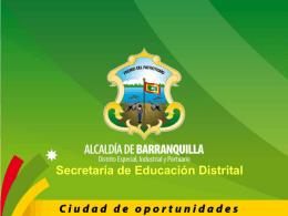 Gratuidad Educativa en el Distrito de Barranquilla