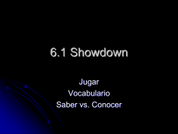 6.1 Showdown