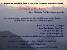 """Conversatorio """"El Origen De Los Paisas"""""""
