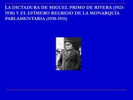 la dictadura de miguel primo de rivera (1923-1930)