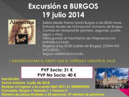 Cartel excursión Burgos 2014