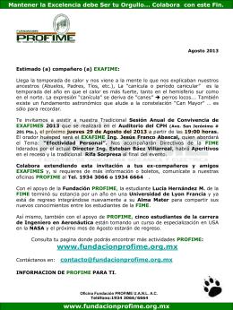 Agosto_2013 - Fundacion Pro-FIME
