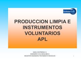 ACUERDOS DE PRODUCCIÓN LIMPIA