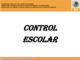Sistema de Control Escolar de Educación Superior