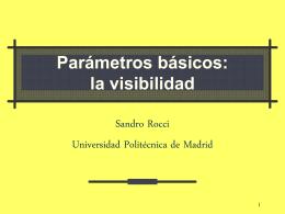 la visibilidad - Universidad Politécnica de Madrid