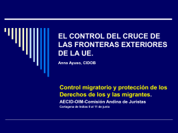 El control del cruce de las fronteras exteriores de la UE