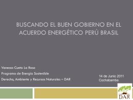 Propuesta de Acuerdo Energético Perú-Brasil