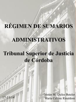 5. Sumario administrativo.