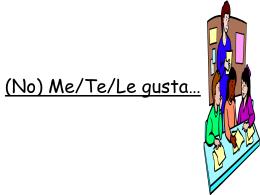 (No) Me/Te/Le gusta…