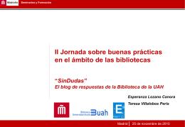 El blog de respuestas de la Biblioteca de la UAH