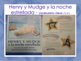 Henry y Mudge y la noche estrellada - vocabulario