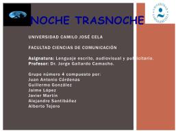NOCHE TRASNOCHE - Juan Antonio Cárdenas