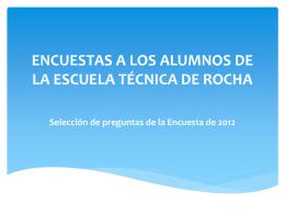 Encuesta a estudiantes de Escuela Téc Rocha Ana
