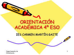 Orientación Académica 4 º ESO