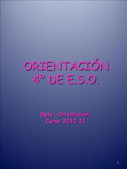 orientación 4º de ESO 2010.11