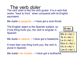 The verb doler - CabreraSpanishClass