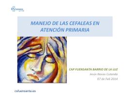 Cefalea - Docencia C.S. Fuensanta