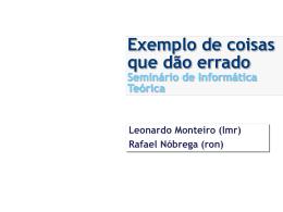 Redes Pervasivas - CIn - Centro de Informática da UFPE