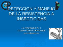 MANEJO RACIONAL DE INSECTICIDAS