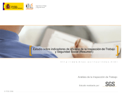 Estudio sobre Indicadores de Eficacia ITSS (Resumen)