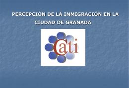 PERCEPCIÓN DE LA INMIGRACIÓN EN LA CIUDAD DE