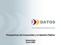 Perspectivas del Consumidor y la Opinión Pública Venamcham