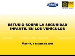 Seguridad infantil en los vehículos (2006)