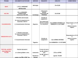 MAPA, Holter, Colonoscopia, endoscopia alta, Test del aliento