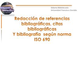cita bibliografica - Universidad Francisco Gavidia