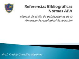 Referencias Bibliográficas - Colegio Alcántara de Talagante
