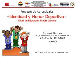Proyecto de Aprendizaje I Lapso