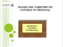 tarjetero de registro y control nutricional