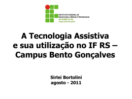 Tecnologias assistivas no