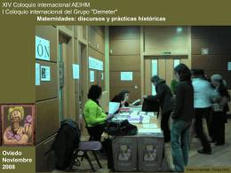 """XIV Coloquio Internacional AEIHM """"Maternidades: Discurso y"""