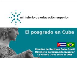 El posgrado en Cuba