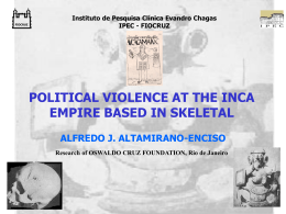 POLITICAL VIOLENCE AT THE INCA EMPIRE BASED IN