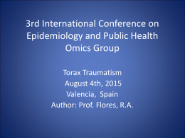 3º International Conferences on Epidemiology and emergents