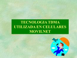 Tecnología TDMA.