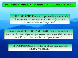 future simple & going to