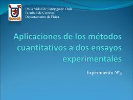 Aplicaciones de los métodos cualitativos a dos ensayos