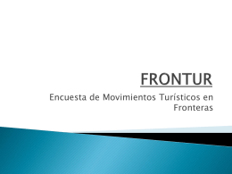 FRONTUR Power point