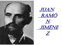 Juan Ramón Jiménez Introducción