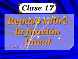 Clase 17: Repaso sobre la Función Lineal