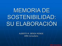 MEMORIA DE SOSTENIBILIDAD: SU ELABORACIÓN