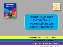 Luis Enrique Espinoza – ESTRATEGIAS PARA MEMBRESIA CLUB